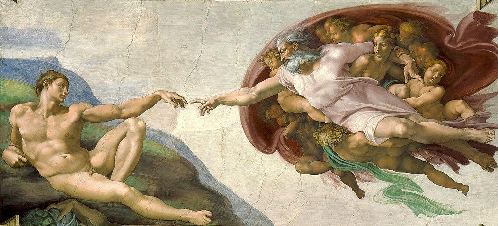 Adams skapelse, en känd takmålning