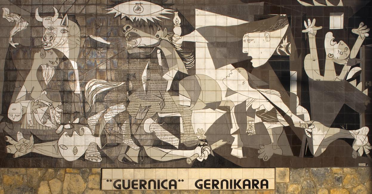 Guernica, ett minnesmärke över en spansk stad
